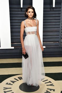 Best dressed at Vanity Fair Oscar party Nina Dobrev in Dior