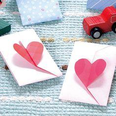 かわいいハートが付いた折り紙で作るポチ袋の折り方(おりがみ) | ぬくもり