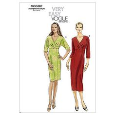 Mccall Pattern V8682 E5 (14-16--Vogue Pattern