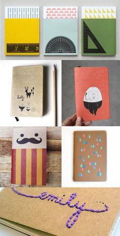 Beautiful hand made notebooks for school notes, to-do lists, diaries, ...