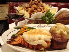 Surf 'N Turf at Alfred's Steakhouse in San Francisco