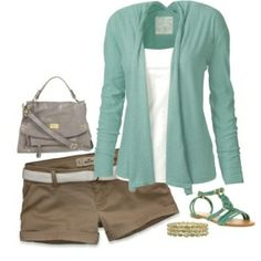 like this color green with the khaki. Or grey shorts would be nice, too