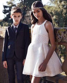 Girl's Vertical Limit Dress - Bardot Junior For Georgie, flower girl, add a silver belt maybe!!?