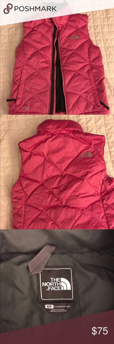 NWOT Northface pink vest NWOT. Excellent condition north face vest! Very feminine and super cute ! Also very warm for the colder months thats yet to come! All offers are considered through the offer button. Size small, but medium will fit as well. The North Face Jackets & Coats Vests