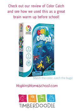 Color Catch Smart Games ~ A Timberdoodle Review ~ Hopkins Homeschool