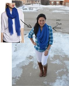 The scarf tying obsession