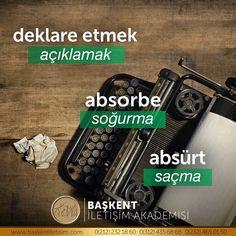 Türkçe Learn Turkish, Turkish Language, Grammar And Vocabulary, Cool Words, Karma, Poems, Instagram, Mathematics, Poetry