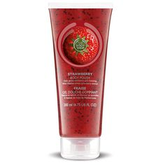 The Body Shop STRAWBERRY BODY POLISH This exfoliating, gel-based, foaming scrub loaded with exfoliating crushed walnut shells and kiwifruit seeds gently buffs away dead skin cells to leave skin soft and smooth. The Body Shop, Body Shop At Home, Coconut Oil Body Scrub, Body Butter, Body Shop Online, Beauty Hacks Nails, Homemade Beauty Tips, Exfoliating Body Scrub, Body Polish