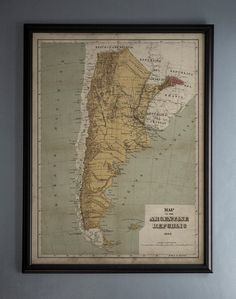 Cordoba Map Art Map Print Argentina Map Print Home Map - Argentina map to print