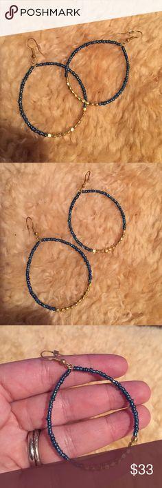 New Beaded Earrings New beaded hoop earrings . Great boho style . Nwot Jewelry Earrings