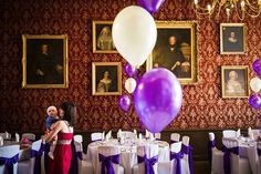 Pretty balloons at Grittleton house