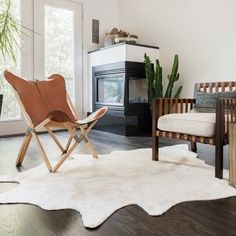 Alexander Home Rawhide Ivory Rug (5'0 x 6'6) | Overstock.com Shopping - The Best Deals on 5x8 - 6x9 Rugs