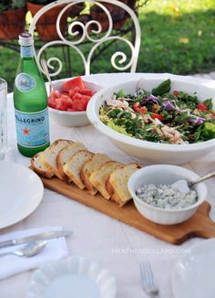 I love this summer spread. Bottles of Peligrino would make a nice beverage offering.