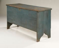 New England 6-Board Blanket Chest, Late 18th c.