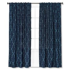 Threshold™ Dot Lattice Window Panel in Blue, $25 - could use as main drape?