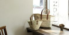 always on the ready and willing to be filled: my baskets!