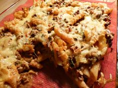 pasta ovenschotel met gehakt, champignons en Italiaanse roerbakgroente