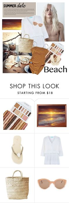 """Pale early sun"" by traceygraves ❤ liked on Polyvore featuring Giuseppe Zanotti, Melissa Odabash, Indego Africa, Illesteva, Eres, beach and summerdate"