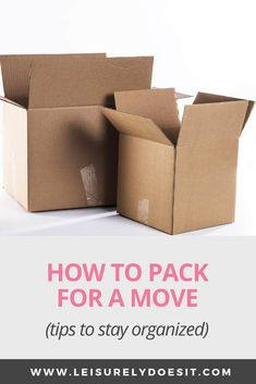 How To Pack For A Move - Brilliant Ways To Stay Organized , Get great tips for how to pack for a move to a new home, including moving checklists and the best way to pack boxes. These simple tips will make life so much easier when you're moving. Moving House Tips, Moving Day, Moving Tips, Moving Hacks, Packing To Move, Packing Tips, Wardrobe Boxes, Moving Boxes, Packing Boxes For Moving