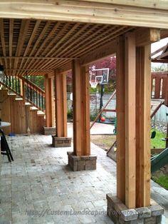 Cozy Backyard Patio Deck Design Decoration Ideas 43 - Home & DIY Patio Under Decks, Decks And Porches, Back Patio, Under Deck Landscaping, Landscaping Ideas, Patio Deck Designs, Patio Design, Covered Deck Designs, Deck Design Plans