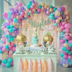 Balloon Decoration For Birthday Party Themes Girls Kids Decorations Ideas