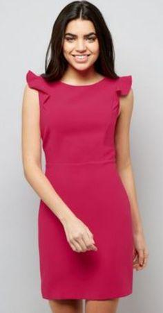56867954 New Look Women's Fuscia Ruffle Dress rrp 28 Size Uk 12 LS171 NN 07 #fashion  #clothing #shoes #accessories #womensclothing #dresses (ebay link)