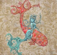 mermaid & koi,   http://www.etsy.com/listing/68386401/mermaid-and-koi-fish-print?ref=sr_gallery_8=_search_submit=_search_query=fairy+wallpaper_view_type=gallery_ship_to=AU_search_type=handmade_facet=handmade