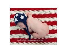 PDF American Flag Set Chunky yarn CROCHET PATTERN No 242 photo prop-Soo in love with this!!!