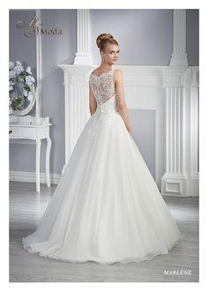 13262.jpg (1138×1600)  Šaty Marlene  bílé 36  půjčovné 7500,- Kč  caxa