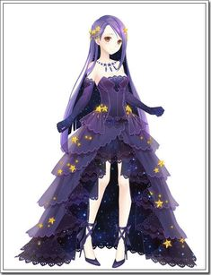 Anime girl | this is cute and the dress is kin mysterious