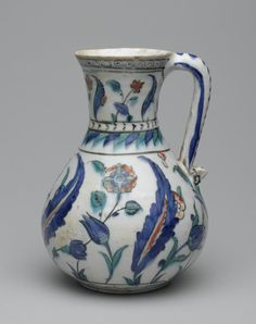 Turkish. Jug, second half of the 16th century. Ceramic; fritware, painted in black, cobalt blue, green, and red under a transparent glaze, 17 7/8 x 15 1/2 in. (45.4 x 39.4 cm). Brooklyn Museum, Museum Collection Fund, 06.4. Creative Commons-BY (Photo: Brooklyn Museum, 06.4_side1_PS2.jpg)