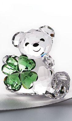 New in Box Sparkling Cut Crystal Panda Bear Figurine