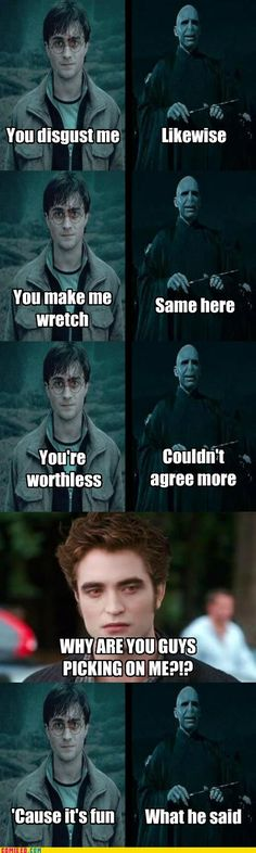 The one thing Voldemort and Harry can agree on