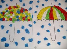 Umbrella crafts for preschool Kids Crafts, Fall Crafts For Toddlers, Preschool Art Projects, Toddler Crafts, Diy For Kids, Fall Arts And Crafts, Autumn Crafts, Autumn Art, Summer Crafts