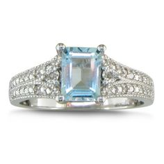 Sterling Silver Aquamarine and Diamond Ring (1 1/2 cttw) SuperJeweler http://www.amazon.com/dp/B0062QY7O6/ref=cm_sw_r_pi_dp_wJEoub0QJRWHY