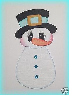 PREMADE WINTER SNOWMAN CHRISTMAS PAPER PIECING BY MY TEAR BEARS KIRA
