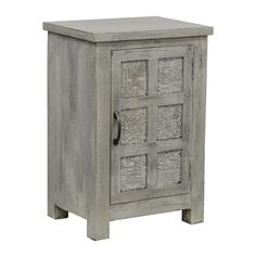 Add a traditional yet rustic look to your bedroom decor with this stylish reclaimed wood nightstand. Lovingly handcrafted in India, this night table has a grey white wash finish that will add sophistication and charm to your room.