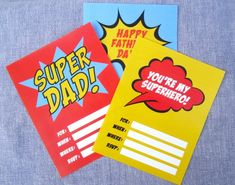 free superhero fathers day party printable decoratons invitations