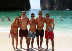 The Melted Stories team together on Maya Beach.