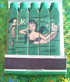 Davy Jones' Locker vintage matchbook -pinned for Paula to see, in case she hasn't got it.