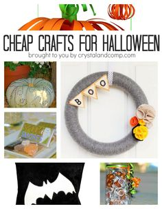 cheap halloween crafts