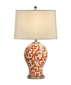 Wildwood 60061 Red Scrolls 29 Inch Table Lamp - $379.50