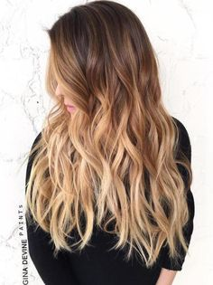 Casual Beach Wave Ombre: Long Brown To Blonde Ombre