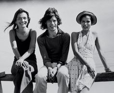 Lee Radziwill with Mick and Bianca Jagger.