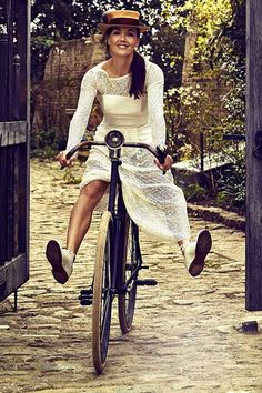 Don't be afraid to Cycle in a Maxi-dress.  Via Olympic Champion Victoria Pendleton, on the cover of the London Evening Standard