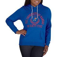 Ncaa Kansas Jayhawks Ladies Classic-Fit Pullover Hood, Women's, Size: Large, Blue