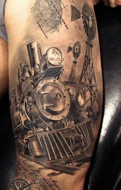 1000 images about tatoo on pinterest tattoo new school for Crazy train tattoos