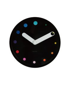 Minimal Colored Dots // Wall Clock | via Posh365