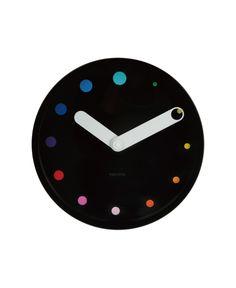 Minimal Colored Dots // Wall Clock | via Posh365