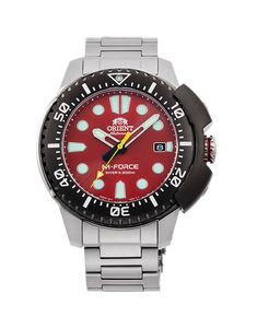 Orient M-Force AC0L Diver Watch | RA-AC0L02R00B RA-AC0L02R | Orient Watch USA Cool Watches, Rolex Watches, Watches For Men, Durable Watches, Orient Watch, Stainless Steel Case, Design Model, Fashion Watches, How To Find Out